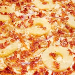 Spicy Hawaiian BBQ Bacon & Chicken Pizza