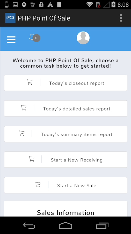 PHP Point Of Sale- screenshot