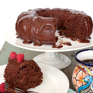 Mexican Chocolate Bundt Cake with Tequila Almond Liqueur Ganache