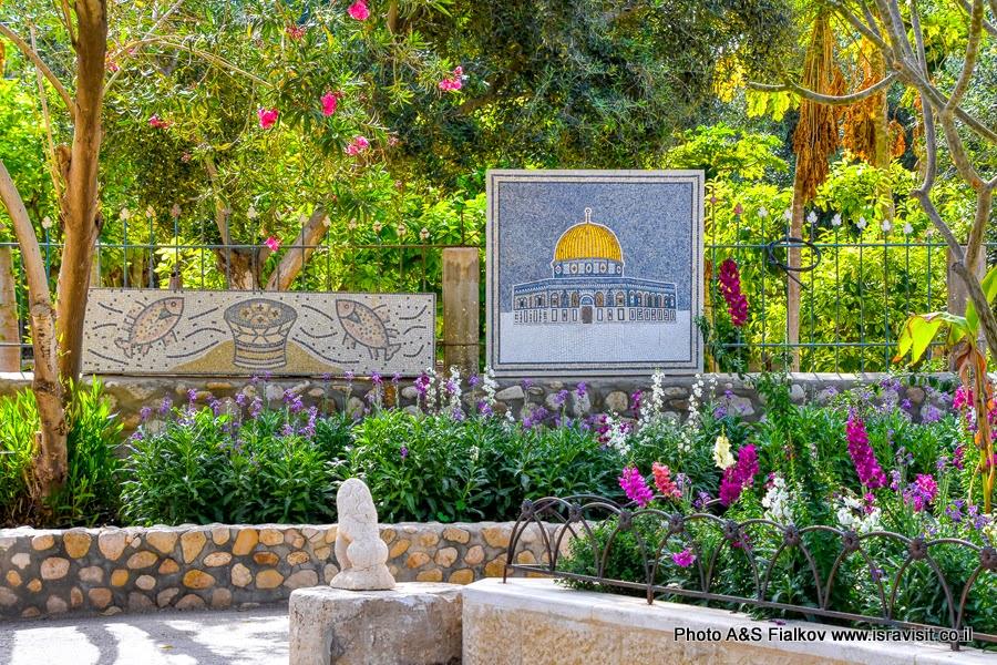 Мозаики в монастыре Герасима Иорданского в Иудейской пустыне.