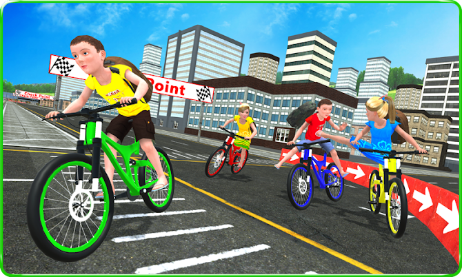 Kids School Time Bicycle Race Android 2