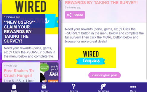 Wired Coupons- screenshot thumbnail