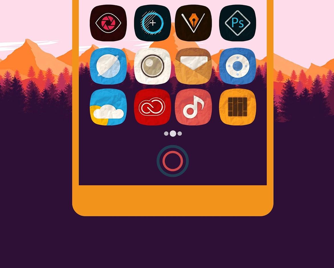 Rugos Premium - Icon Pack antes era €1,89 e agora está grátis no Google Play 1