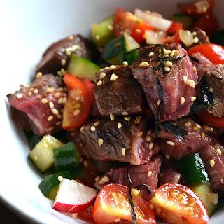 Seared Hawaiian Beef Poké.
