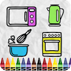 Coloring Kitchen Cooking page icon