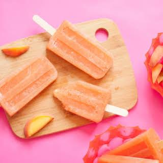 Peach Rosé Popsicles.