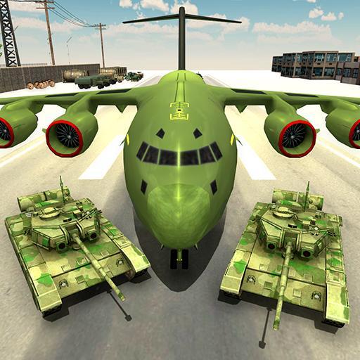 US Army Transport Game - Army Cargo Plane & Tanks