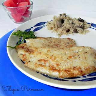 Easy Baked Tilapia Parmesan.