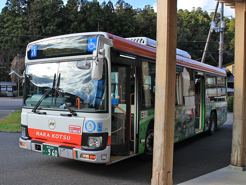 奈良交通「八木新宮線」 ・960 十津川温泉~本宮大社前間到着 その2