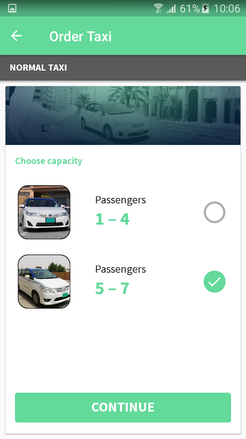 Ajman Taxi- screenshot