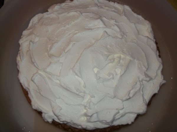 Once the pie has been refrigerated for several hours cover with whipped cream or...