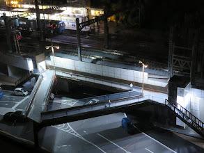 Photo: 新駅区間に道路歩道橋作成