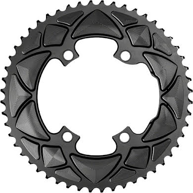Absolute Black Premium Round 110 BCD Road Outer Chainring for Shimano Dura-Ace 9100 - 50t, 110 Shimano Asymmetric B