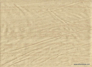 Photo: 100% Handloom Dupioni Silk - H/L Champagne