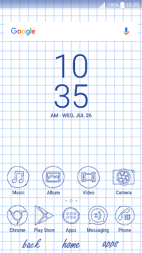 Sheet of notebook | Xperia™Theme + icons app for Android screenshot