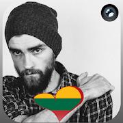 Lithuania Flag Heart Effect : Photo Editor APK