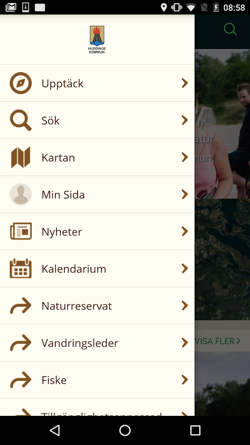 Huddinge Naturkarta- screenshot