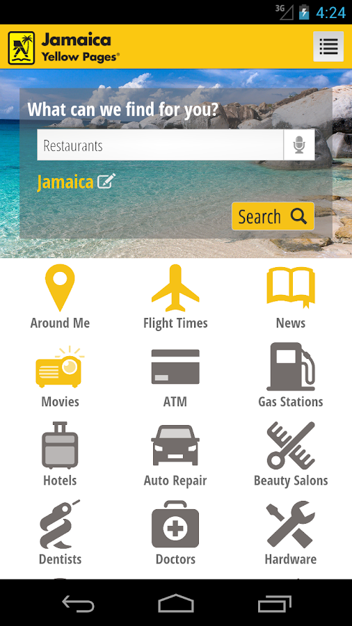 Jamaica Yellow Pages- screenshot