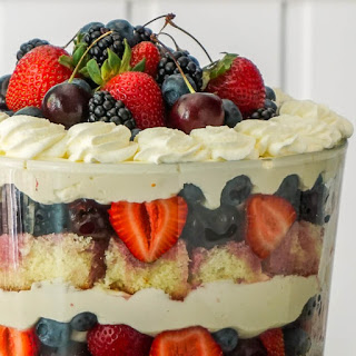 White Chocolate Cheesecake Trifle with Summer Fruit.