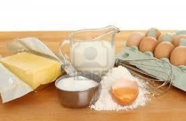 Beat eggs light, add sugar, melted butter and add the dry ingredients with the...