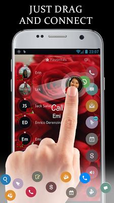Love Rose Dialer Contact Theme - screenshot