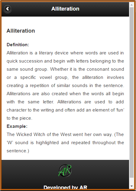 Literary Terms- screenshot