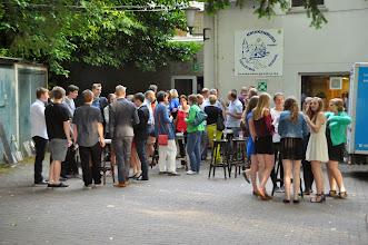 Photo: Receptie op het 'terras' van Kruikenburg...