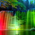 Neon Waterfalls Live Wallpaper icon