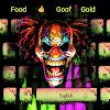 Enfer Clown mauvais thème du clavier Graffiti