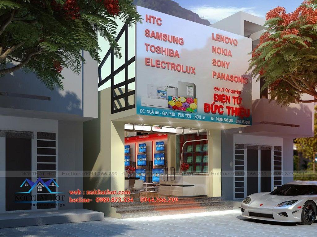 thiết kế cửa hàng điện máy cao cấp hợp lý