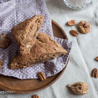 Fig Pecan Cinnamon Whole Wheat Scones.