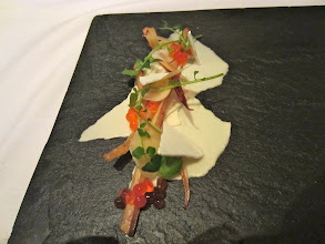 Photo: Parsnips with steelhead roe, yogurt and cress