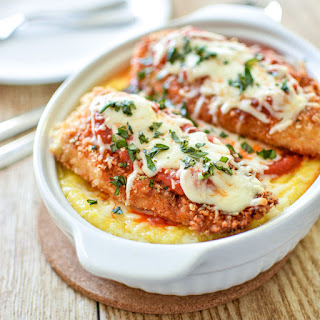 Baked Polenta with Classic Chicken Parmesan