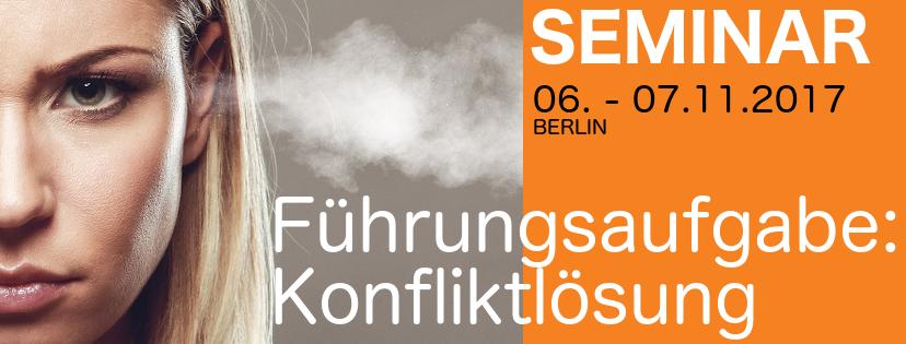 FRIEDENS RICHTER Seminar Führungsaufgabe Konfliktlösung 06.-07.11.2017 in Berlin