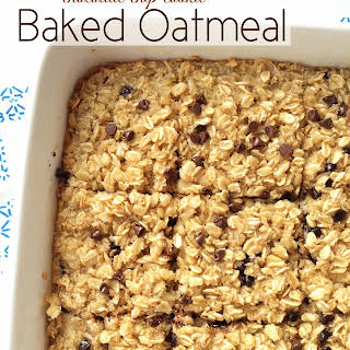 Chocolate Chip Cookie Baked Oatmeal.