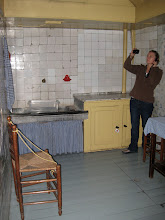 Photo: The kitchen in the living quarters added in the 1880s - once it became a museum a caretaker lived there, so this was added.