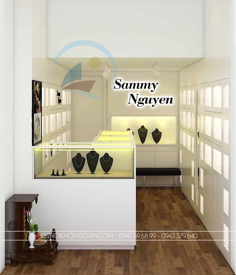 thiết kế cửa hàng vàng bạc, trang sức Sammy Nguyen 1