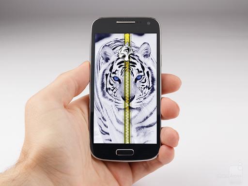 White Tiger Wallpaper Zipper