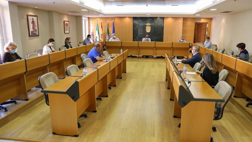Desarrollo de la junta de portavoces en El Ejido.