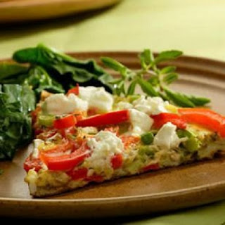Bell Pepper and Goat Cheese Frittata