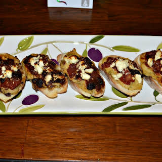 Hummus Bruschetta with Feta.