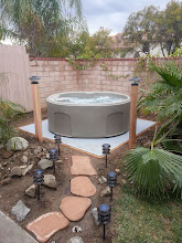 Photo: The EZpads were easy to assemble and install after preparing the foundation.  I laid them upon leveled, compacted dirt. Foundation is solid and supports spa with no problems so far.  Chris L  Corona CA
