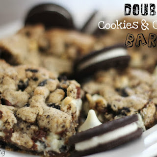 DOUBLE COOKIES AND CREAM BARS.