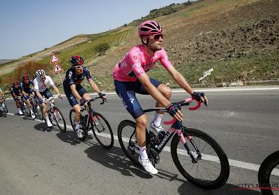 Filippo Ganna heeft de vijfde etappe in de Giro gewonnen