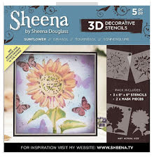 Sheena Douglass 3D Stencils - Sunflower UTGÅENDE