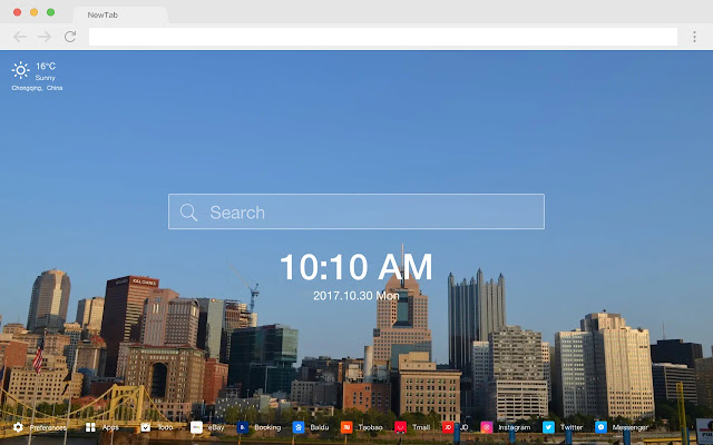 Pittsburgh HD Popular Cities New Tabs Themes