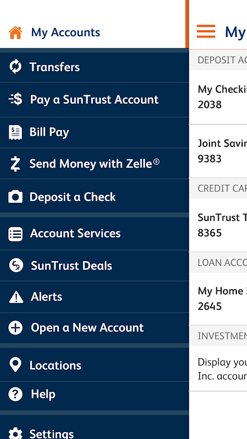 SunTrust Mobile App- screenshot