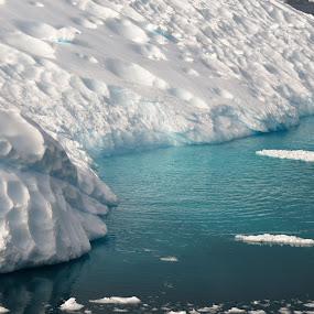 Antarctic Ice Berg Shaped by Wind by Sheri Fresonke Harper - Landscapes Weather ( wind, antarctica, antarctic, underwater, ice, ice berg, ocean,  )