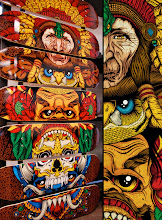 Photo: Totem: 7-Skate Deck Artwork by Pale Horse http://www.behance.net/gallery/Totem-7-Skate-Deck-Artwork/637757
