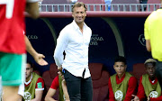 Coach of Morocco Herve Renard during the 2018 FIFA World Cup Russia group B match between Portugal and Morocco at Luzhniki Stadium on June 20, 2018 in Moscow, Russia.